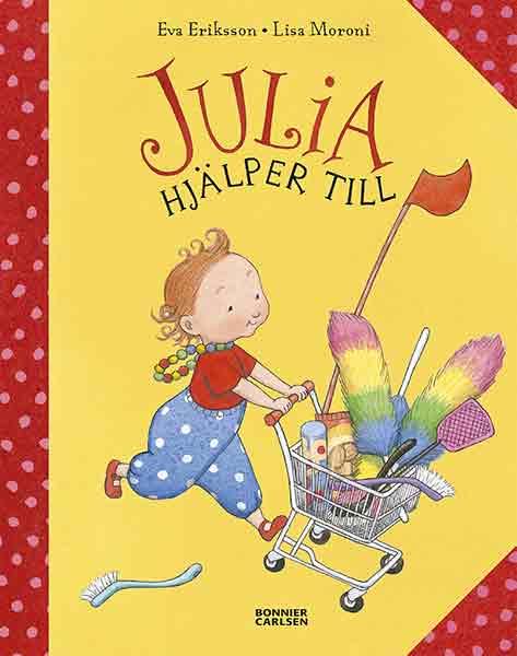 Följ Julia när hon hjälper till där hemma, en perfekt bok för en 2-åring!