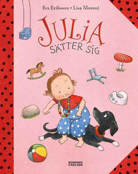 Julia sätter sig är en rolig bok för 1åringar